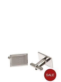 england-stainless-steel-oblong-crest-cufflinks