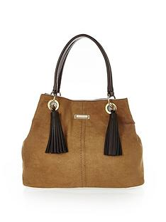 river-island-double-tassel-detail-slouch-bag