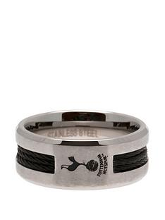 tottenham-hotspur-stainless-steel-black-inlay-crest-ring