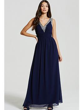 little-mistress-navy-embellished-plunge-maxi-dress