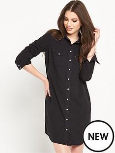 levis-iconic-modern-western-style-shirt-dress-black-ink