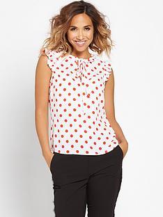 myleene-klass-polka-dot-printed-blousenbsp