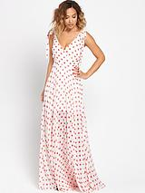 Polka Dot Printed Maxi Dress