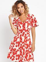 Floral Printed Tea Dress
