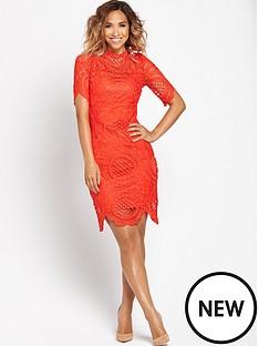 myleene-klass-scallop-hem-lace-fitted-dress