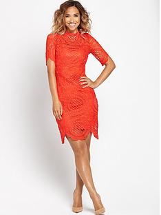myleene-klass-scallop-hem-lace-fitted-dressnbsp
