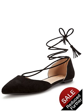 v-by-very-brixton-tie-up-the-leg-pointed-flat-shoenbsp