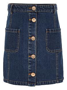 river-island-girls-pocket-denim-a-line-skirt