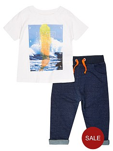 river-island-mini-boys-sea-print-tee-and-denim-joggers-set