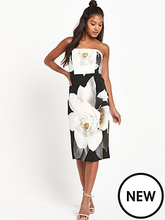 wallis-wallis-mono-strapless-dress