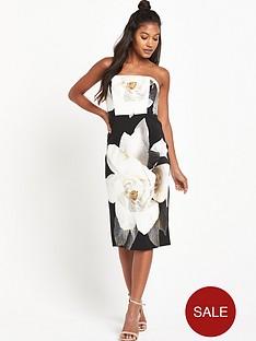 wallis-wallis-mono-strapless-dress
