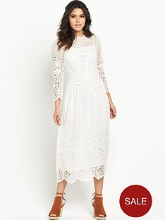 warehouse-silk-lace-embroidered-dress