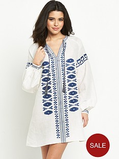 warehouse-embroidered-tunic
