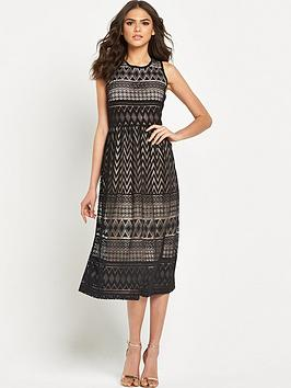 warehouse-zig-zag-lace-midi-dress