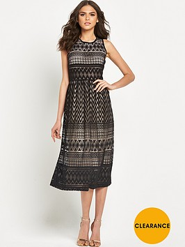 warehouse-zig-zag-lace-midi-dress