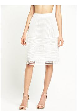 warehouse-geo-lace-skirt-white