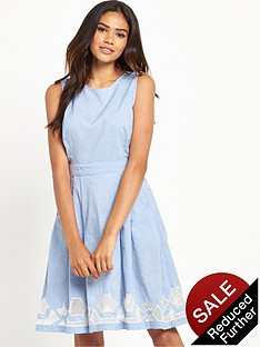 warehouse-chambray-cutwork-dress