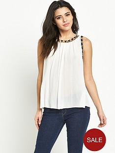 warehouse-embroidered-armhole-top