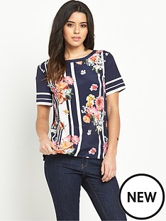 oasis-film-floral-woven-mix-tee