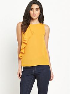 oasis-frill-drape-shell-top