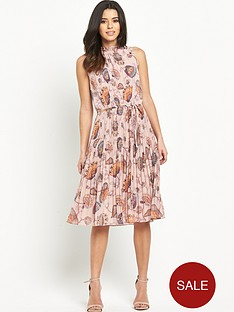 oasis-goddess-pleated-tie-dress
