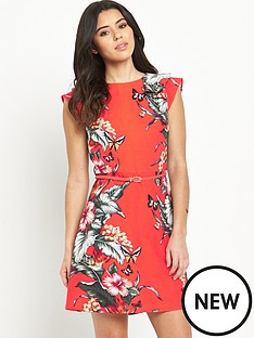 oasis-honolulu-frillnbsptrim-skater-dress