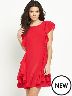 oasis-side-frill-skater-dress