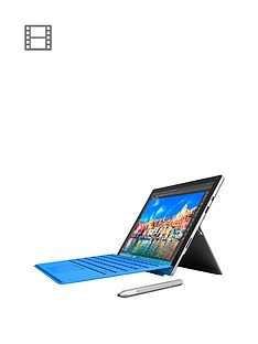 microsoft-surface-pro-4-intelreg-coretrade-i5-processor-4gb-ram-128gb-solid-state-drive-tablet-wi-fi-123-including-blue-type-cover-and-optional-microsoft-office