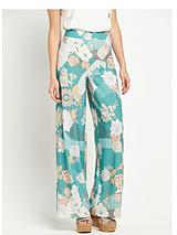 Wide Leg Printed Trouser