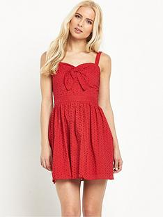 miss-selfridge-petite-broderienbspanglaise-tie-front-sundress