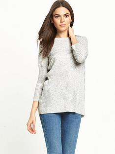 miss-selfridge-crew-neck-slouchy-lightweight-jumper-grey