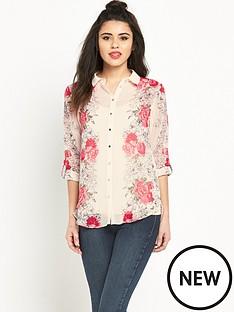 miss-selfridge-vertical-floral-shirtnbsp