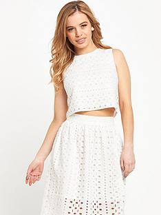 miss-selfridge-petite-broderie-anglaisenbspshell-crop-top