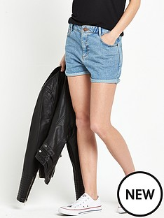 miss-selfridge-high-waist-mom-short