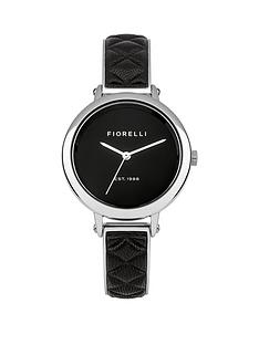 fiorelli-black-dial-silver-tone-metal-and-black-leather-bangle-ladies-watch