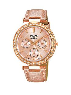 pulsar-pulsar-ladies-rose-gold-strap-multidial-watch