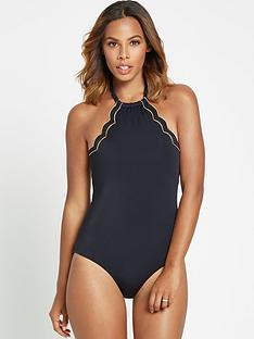 rochelle-humes-high-neck-scallop-swimsuit