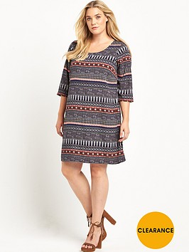 junarose-junarose-curve-frac34-sleeve-shift-dress