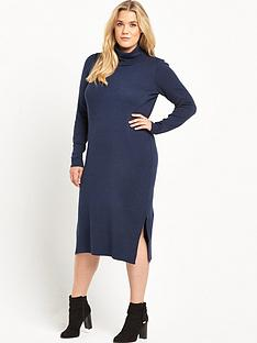 junarose-curve-funnel-neck-knitted-dress