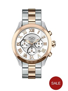 rotary-rotary-two-tone-chronograph-stainless-steel-ladies-watch