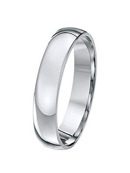 Love GOLD Love Gold Palladium 4Mm D Shaped Wedding Band Picture