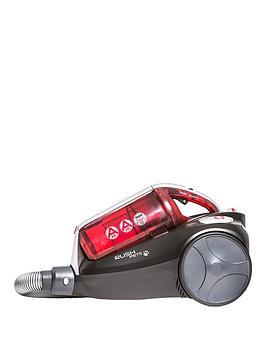 Hoover Rush Pets Ru70 Ru16001 Bagless Cylinder Vacuum Cleaner  RedBlack