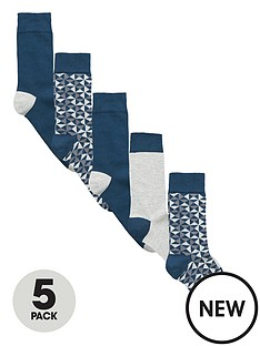 v-by-very-5-pack-geo-pattern-socks