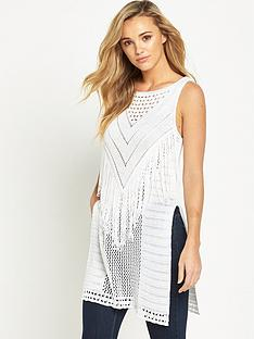 v-by-very-fringe-yoke-sleeveless-split-side-tunic