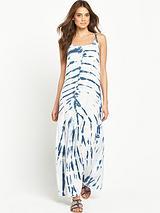 Tie Dye StrappyBeach Maxi Dress