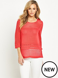 v-by-very-crochet-flare-sleeve-pointelle-jumpernbsp