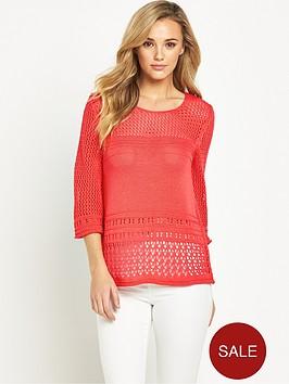 v-by-very-crochet-flare-sleeve-pointelle-jumpernbsp