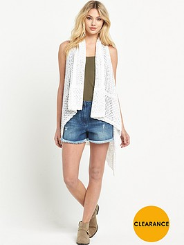 v-by-very-pointelle-sleeveless-high-low-hem-cardigan