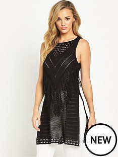v-by-very-fringe-yoke-sleeveless-side-split-tunic-top
