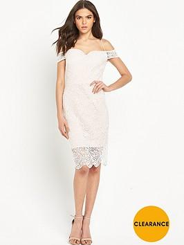 miss-selfridge-lace-cold-shoulder-bodycon-pencil-dress